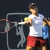 Carol Zhao in women's doubles action