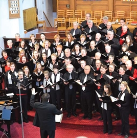 Members of Tone Cluster - quite a queer choir, and Harmonia Choir of Ottawa perform their Peace concert on Nov. 24 at the Centretown United Church. Choir members from both groups joined together for the performance.