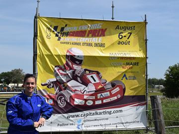 Stephanie Berg of Stittsville is both a volunteer and a racer in upcoming Capital Karting Grand Prix