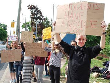 O'Neill Collegiate student protest