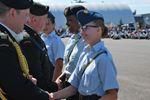Local cadet tops at training camp