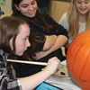 Tosorontio students decorate book-inspired pumpkins