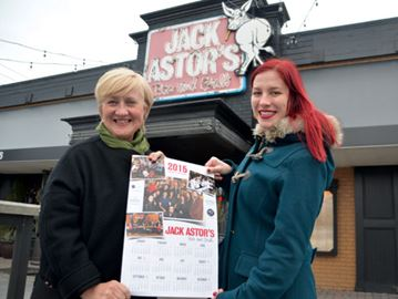 Jack Astor's charity calendar for Community Care launches Friday