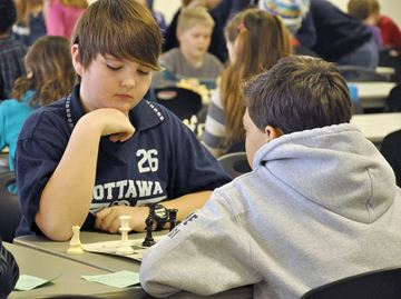Students from elementary schools in Wasaga Beach, Collingwood, Nottawa, Stayner, Creemore and New Lowell competed in the Simcoe West regional Simcoe County Chess Tournament March 4 at the Stayner Community Centre. Winners will advance to the county level tournament March 25 in Midhurst.