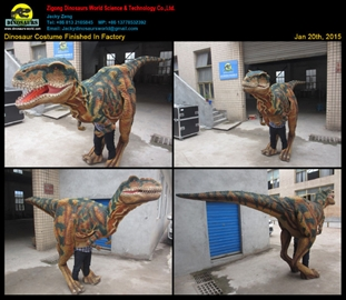 Dinosaur Costume Finished In Factory Jan 20th_ 2015