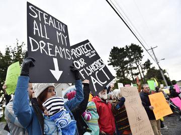 Harper protest