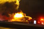 Tractor-trailer fire