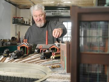 COBOURG -- Cobourg Model Railroaders member Doug Clark will be at the Cobourg Model Train Show on March 1. Mr. Clark has a large HO scale layout at his home in Grafton. February 25, 2014.