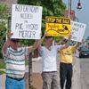 Oshawa hydro merger protest