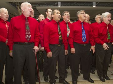 Oakville's Entertainers Barbershop Chorus brought Christmas cheer in support of Salvation Army