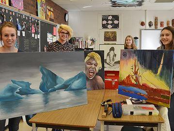 Students cross creative 'Divide'