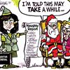 Today's cartoon: Ontario Liberals on Santa's naughty list