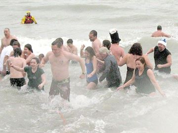 Weather chills Clarington Polar Bear Swim