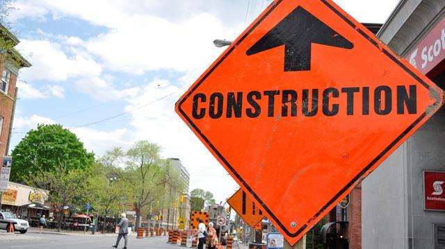 Corkstown Road lane reductions