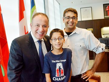 Vaughan War Amps CHAMP urges kids to play it safe