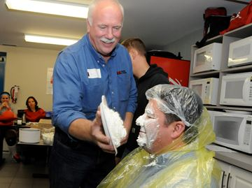 Barrie company throws pies, supports United Way