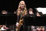 Hannah Abrahamse, lead tenor in the TAS Jazz Band