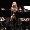 Hannah Abrahamse, lead tenor in the TAS Jazz Band