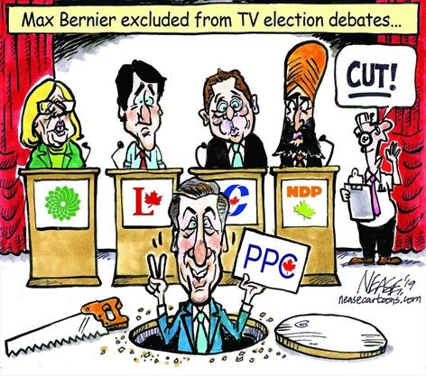 Heather Mallick: Maxime Bernier wants to break rules to sneak into TV debates