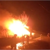 Barn goes up in flames