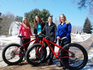 With the popularity of fat bikes increasing, Mandi Hargrave, Laura Johnson, Sara Freund and Ashley Sheldon put them to the test on April 6.