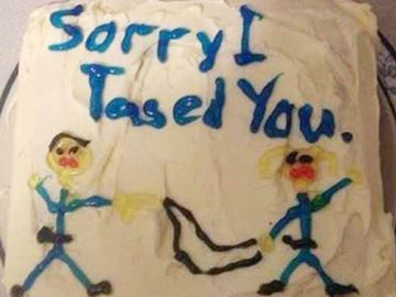 Taser cake