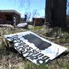 Vandalism at Camp 30, a former school and prisoner of war camp