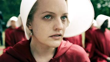 Elisabeth Moss stars as Offred in Margaret Atwood's A Handmaid's Tale the award-winning series based on the novel by Canadian author Margaret Atwood.