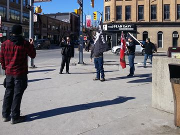 Racists gather in downtown Peterborough