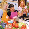 Whole grain pancakes and sweet potato dip fuel kids' brains
