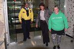 Hamilton protester escorted into room
