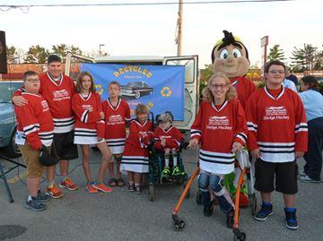 Alliston car club donates sledges to hockey program