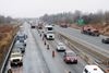 Hwy. 401 diesel spill in Newcastle