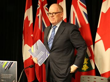 """Stephen LeClair, Ontario's first financial accountability officer, returned to work April 10 after a medical leave, saying """"I look forward to continuing to serve MPPs and Ontarians."""""""
