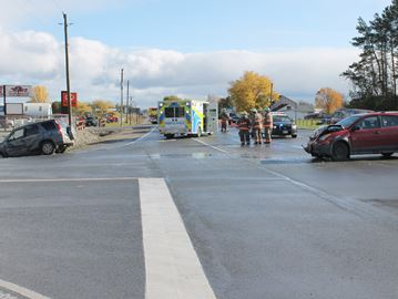Two cars wrecked in Meaford accident