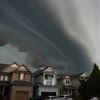 Dark storm clouds in Clarington momemts before storm