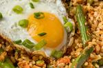 Sesame Fried Rice with Spring Vegetables and Egg