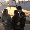 Trudeau goofs around after landing in Montreal for election day