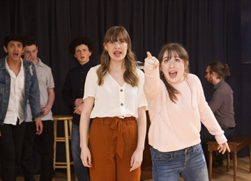 The Yellow Door Theatre Project's teen group performs Crack of Doom at its VIP Season Launch.