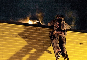 two-alarm blaze
