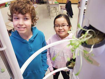 'Tower gardens' at Orillia schools