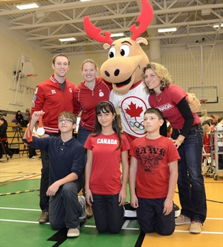 Video Canada Unveils Its Olympic Mascot At North Hamilton