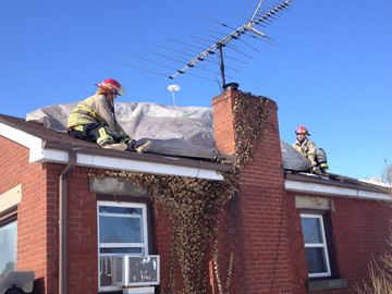 A fire broke out in a Chinguacousy Road chimney and spread into the roof on Feb. 5.