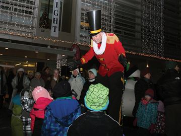 Thousands of people turned out for the annual Unsilent Night celebration on Monday night. The tour of lights, sounds and characters started outside Cambridge City Hall and saw participants make their way to Queen's Square and back around via Mill Race Park, along the Grand River.