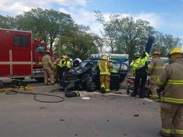 Highway 38/Yarker Road collision
