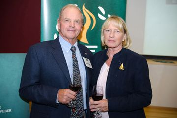 Etobicoke Sports Hall of Famer Hans Fogh (1996) and his wife Kirsten help celebrate the organization's 20th anniversary. (May 14, 2013)