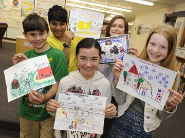Author's serialized picture book tapping imagination of Burlington elementary students
