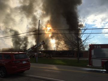 Fire at former public school