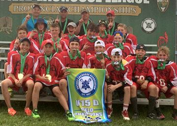 Kawartha Lakes Fury U15 field lacrosse wins provincial title