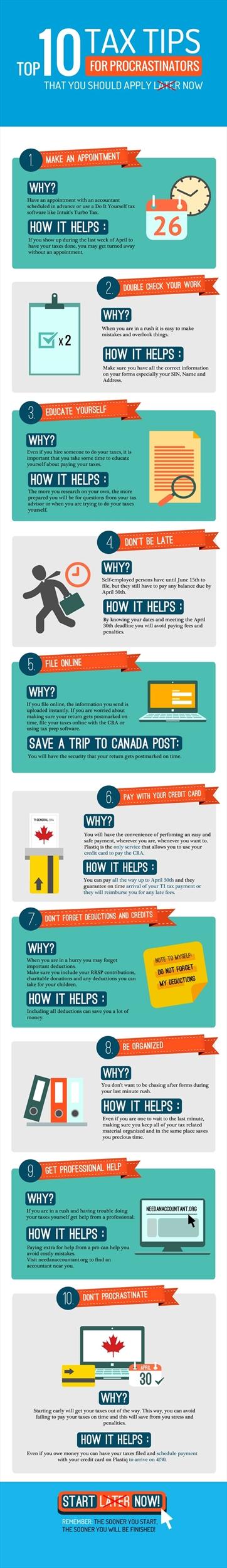 Tax tips for procrastinators infographic